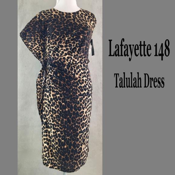 11a032d1f4b LAFAYETTE 148 Leopard Print TALULAH Dress w  Belt
